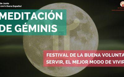 Meditación Luna Llena de Géminis: Festival de la Buena Voluntad – Jorge Carvajal