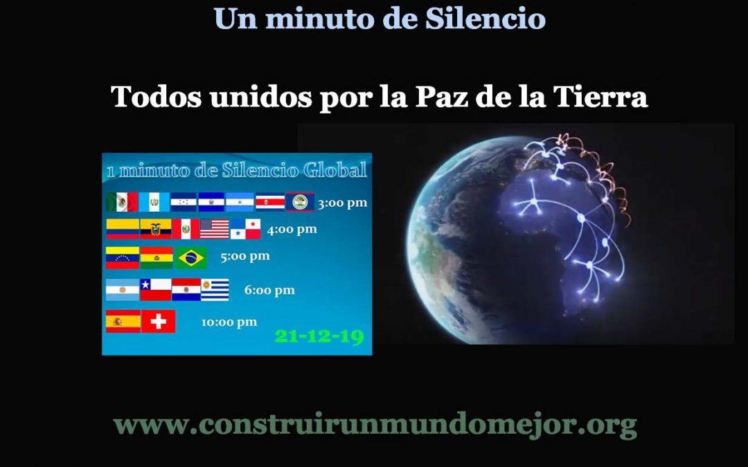 MINUTO GLOBAL DE SILENCIO POR LA PAZ
